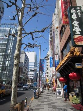 Eine typische Straße in Shinjuku