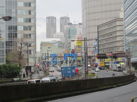 Auf dem Weg zum Shinjuku Bahnhof
